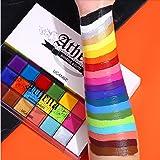 UCANBE visage corps peinture, 20 couleurs peinture à l'huile professionnelle Flash tatouage maquillage Palette peinture Art H