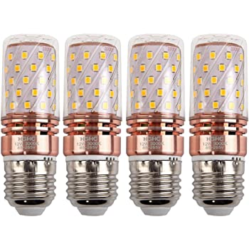 E27 LED Maíz Bombillas 12W AC85-265V 1000LM, 100W incandescente bombillas equivalentes, Blanco Cálido 3000K Candelabro Bombillas LED Lámpara, 4 Piezas