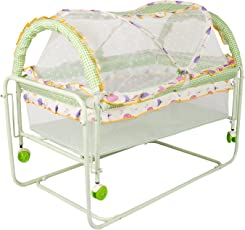 BAYBEE Lightweight and Transportable Cocoon Swing Cradle (Green)