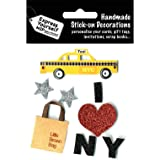 DIY Luxus- 3D-Sticker New York Glitter