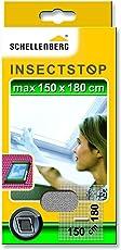 Schellenberg 50328 Fliegengitter mit Reißverschluss | perfekter Insektenschutz für Dachfenster | Maße: 150 x 180 cm | weiß | UV-stabilisiert | einfache Montage ohne bohren | inkl. Befestigungsband