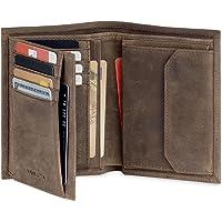KORUTA® Leder Geldbörse Herren mit RFID Schutz I Portemonnaie Groß mit Münzfach I 13 Fächer I Echtleder Geldbeutel für…