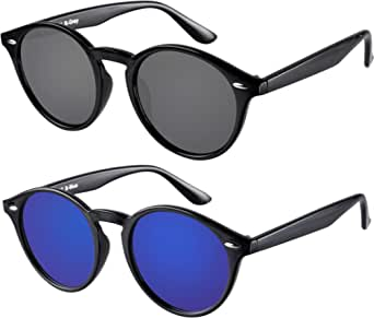 KKmoon Sonnenbrille UV400 Retro Vintage Unisex Brille Mode Frauen Herzf/örmige Sonnenbrille d/ünner Metallrahmen f/ür Damen und Herren Blau