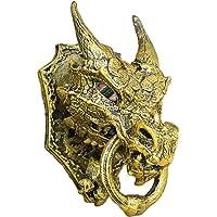 Unique Shape Plastic Game of Thrones Dragon Head Door Knocker/Showpiece Self Sticky, High Detailed, 13x8x8 cm (Golden)