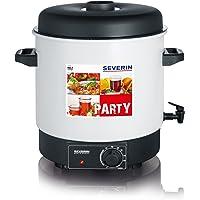 Severin EA 3653 Einkoch- und Heißgetränkeautomat mit Auslaufhahn/für 14 1-Liter-Rundrandgläser 100 / weiß-schwarz (Zertifiziert und Generalüberholt)