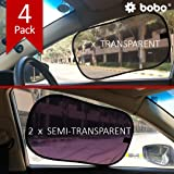 BOBO Car Sun Shade (Pack of 4) - 80 GSM with 15s Static Film (Highest Possible) for Full UV Protection - Universal Fit…
