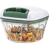 Hakmolen Handmatig, Uienhakselaar voor de Keuken, Eenvoudige Reiniging, Handmatige Groentehakmolen voor Groenten, Fruit (500M