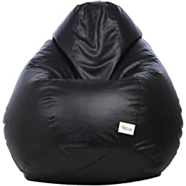 Sattva Classic Bean Bag Cover Without Beans XXXL Size   Black