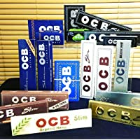 OCB Slim King Size Rolling Paper, with 5 Booklets (Black)