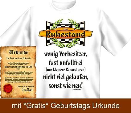 Lustige Rentner Sprüche Fun Tshirt Im Ruhestand! Weinig Gelaufen,  Unfallfrei, Wie Neu!