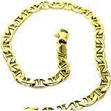 Bracciale da Uomo in Oro Giallo 18kt (750) Maglia Traversino Classico Cm 21