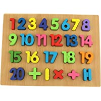 Webby Wooden Counting Numbers (0 to 20) Educational Tray Toy for Kids