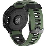 ANBEST Sportarmband für Forerunner 235/220/230/620/630/735XT Smart Watch Silikon Uhrenarmband Verstellbares Ersatzarmband(Armee Grün/Schwarz)