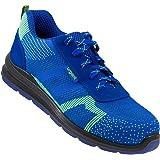 Urgent 232 S1 Safety Work Shoes Steel Toe Cap Orange Dark Blue Multicolour Size: