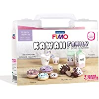 Mallette figurine Fimo - Kawaii family - 18 pcs