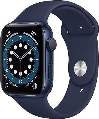 AppleWatch Series6 (GPS, 44mm) Cassa in alluminio azzurro con Cinturino Sport deep navy