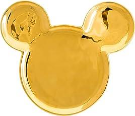 Joy Toy 62150 Mouse Deluxe GOLDIGER Mickey Ohren Keramik Teller 18X15X2 cm, Gold