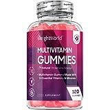 Gominolas Multivitaminas y Minerales de Alta Potencia 120 Unidades - Con 14 Vitaminas y Minerales Activos, Con Vitamina C, A,