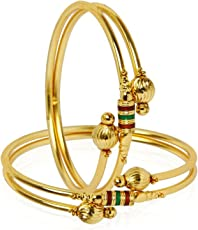 YouBella Jewellery Traditional Gold Plated Bracelet Bangle Set For Girls and Women