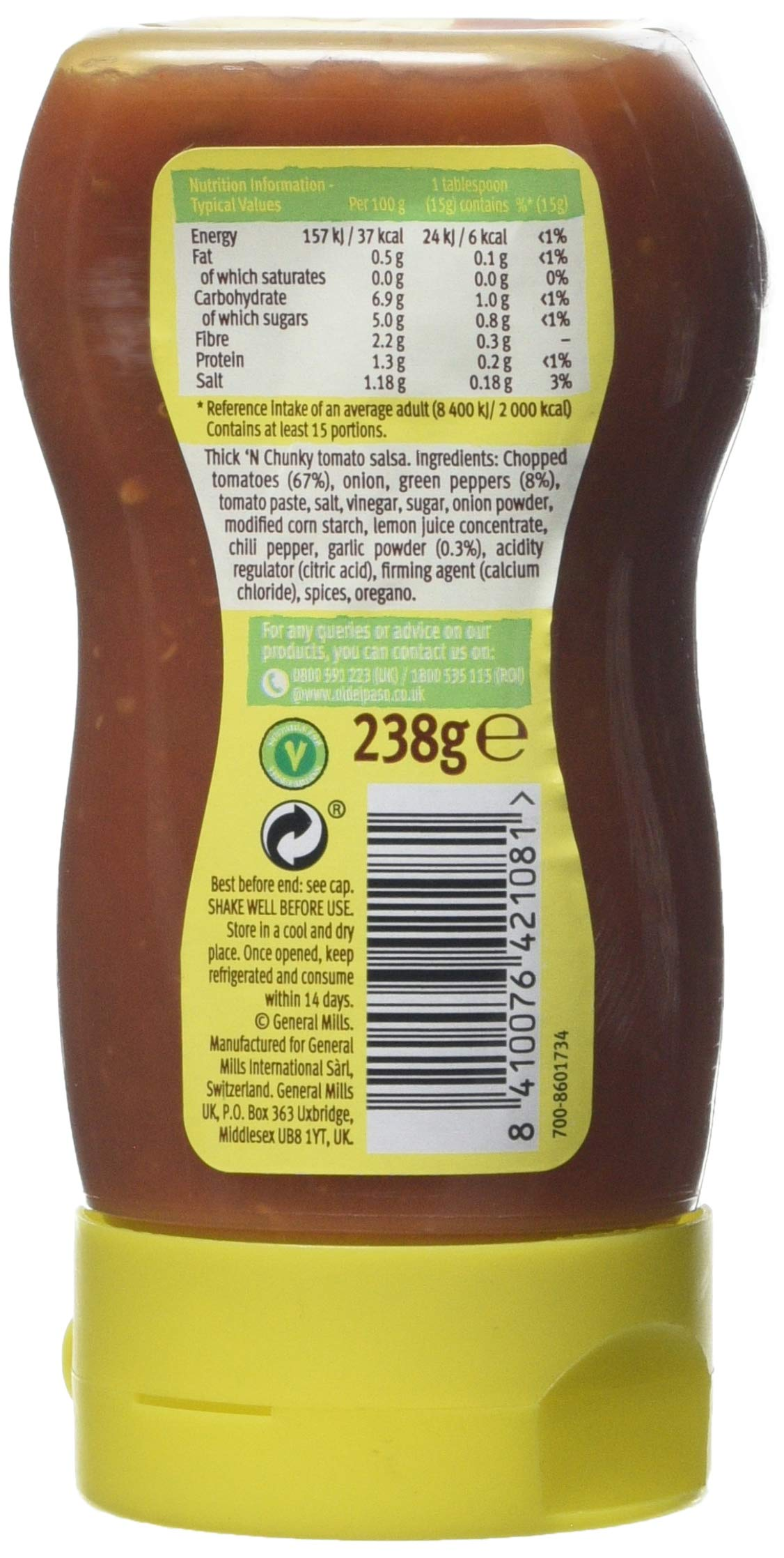 Old El Paso Mexican Chunky Salsa Squeezy, 238g 4
