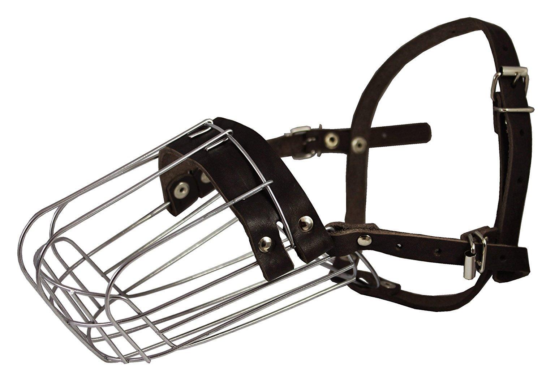 Metal Wire Basket Dog Muzzle Doberman Pinscher Male. Circumference 12″, Length 4.5″