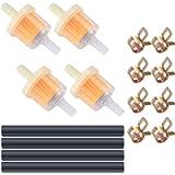 Motorcycle Inline Fuel Filter Line Spring Clips Kit, Inline Fuel Filter Line Hose Clips Kit, 4 Pcs Petrol Filter, 4 Pcs…