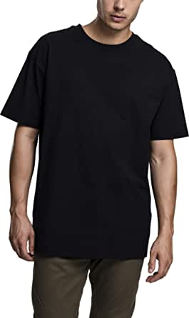 Urban Classics Men's Heavy Oversized Wide Cut, Long Tee, Short Sleeves Shirt with Crew Neck, 100% Jersey Cotton