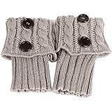 Screenes Ladies Knitting Warm Short B Da + Calze Passeggio Scaldamuscoli Stile Semplice Calzini Stivali Copristivali Calzini