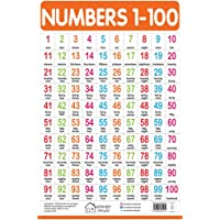 Numbers 1-100 - My First Early Learning Wall Chart: For Preschool, Kindergarten, Nursery and Homeschooling (19 inches X…