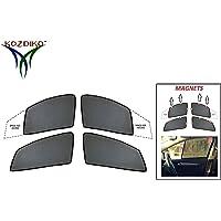 Kozdiko Half Magnetic car Curtains Sunshade for Tata Nexon Set of 4 Pcs