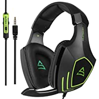 SUPSOO G820 Gaming Headset , 3.5mm Wired Noise Isolation Bass Over-Ear Headphones with Mic for Xbox One PS4 PC Mac iPad iPod