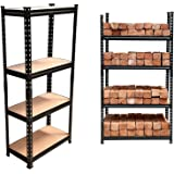 STAR WORK Adjustable 4-Shelf Shelving Unit Storage Rack Utility Rack Garage Shelves Display Rack Steel Boltless Rivet Rack 54