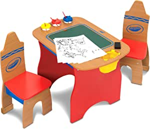 Crayola Creativity Wooden Table N Chairs Set Table