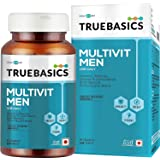 TrueBasics Multivit Men One Daily, Multivitamin for Men, Multiminerals, Omega 3, Nutrition Supplement for Energy, Immunity &