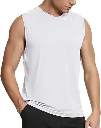 MEETYOO Men's Tank Top Sports Sleeveless Shirt Undershirt Fitness Sleeveless T-Shirt for Running Jogging Gym