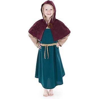 Medieval-LARP-Re enactment-SCA-Viking-Dark Age CHILD/'S KIRTLE Dark Brown
