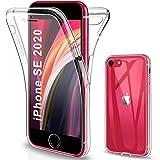 Gnews Cover per iPhone SE 2020, Custodia per iPhone SE 2020 Transparent 360° Full Body Protezione Silicone TPU Premium…