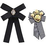PPX Donne Bow Spilla Bowknot Cravatta Spille intarsiato Strass Papillon Fiore all' Occhiello per Festa di Nozze