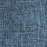 Lewondr Taie d'oreiller en Lin Fin (2 Pièces), 12 x 20 Pouces / 30 x 50 cm, Rectangulaire et Souple, Couleur Unie, Linge de Lit, Coussin et Décoration de Canapé - Bleu