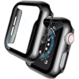 TOCOL 2 Piezas Funda para Apple Watch Series 6 5 4 SE 44mm con Protector de Pantalla Cristal Templado, HD Ultrafina Protecció