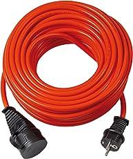 Brennenstuhl Bremaxx Verlängerungskabel (10 m Kabel, für Einsatz im Außenbereich IP44) rot