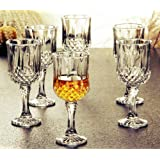 PrimeWorld Glass Wine Glass - 6 Pieces, Clear, 220 ml