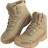 FREE SOLDIER da Uomo Mid Alta Stivali Militari Durable Army Combat Scarpe Impermeabile Traspiranti Tattico Escursionismo