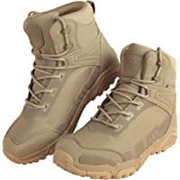 FREE SOLDIER Men's Waterproof Tactical Boots Breathable Military Army Boots Durable Combat Work Shoes Lightweight Hiking…