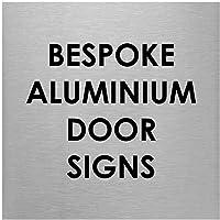 Slimline Aluminium Bespoke Printed Brushed Silver Door Office Sign - 100 x 100mm