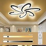 Lustres Led Salon, Jior Led Plafonnier avec Telecommande Dimmable, 72W A ++ Couleur de Lumiere / Luminosite Reglable, pour Ch
