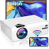 Proyector WiFi, 6000 Lúmenes WiMiUS Proyector WiFi Portátil Full HD Soporta 1080P Mini Proyector LED 90000 Horas Proyector Wi