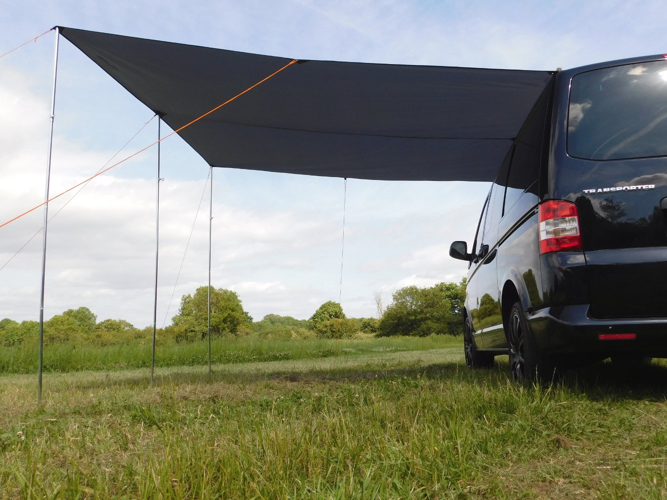 DEBUS Campervan Sun Canopy Awning - Anthracite Grey 8