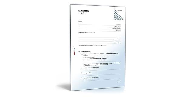 Bauvertrag Nach Vob Pdf Als Einheitspreisvertrag Download