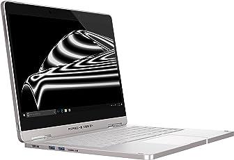 "Porsche Design BOOK ONE, 33.8 cm (13.3"" Zoll Laptop), QHD+ Display (IPS, touch), 7. Gen Intel Core i7-7500U Prozessor, 512 GB SSD Festplatte, 16 GB RAM, Windows 10 Pro, Pure Silver"